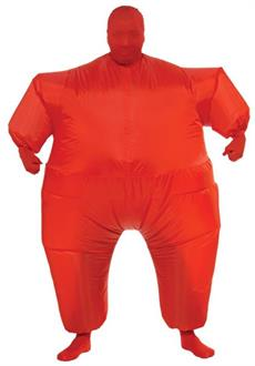 Red Inflatable Adult Skin Suit