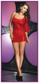 Mini Dress Slinky Red