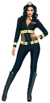 Red Blaze Firefighter Adult Costume