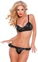 Faux Leather Bra and G-String Set