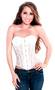 Elegant White Strapless Lace Party Corset Top