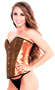 Royal Bronze Sequin Overbust Corset Top