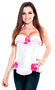 White Ruffled Sexy Easter Costume Corset