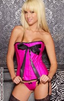 Soft Touch Vinyl ''Rose'' Corset