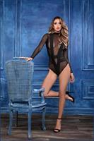 ADORE SKYE SEDUCTIVELY SHEER and CHEEKY BODYSTOCKING