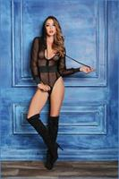 ADORE CHLOE SWEET and DELICIOUS FISHNET BODY WITH HOODY