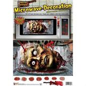 Creepy Kitchen Microwave Removable Decoration