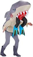 Big Animal Head Costume-Shark with Legs Adult