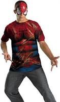 Spider-Man Shirt And Mask Adult Costume