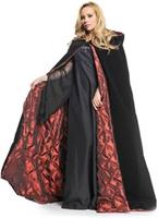 "Deluxe Velvet and Satin with Embossed Satin Lining 63"" Adult Cape"
