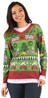 Ladies Ugly Christmas Sweater with Cats