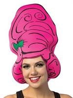 Cartoon Wig - Beehive Pink