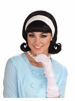1950s Wig W/detachable Headband - Black