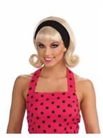 1950s Wig W/detachable Headband - Blond