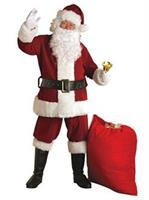 Crimson Regal Plush Adult Santa Suit