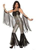 Womens Disco Queen Silver Jumpsuit