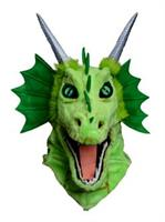 Moving Jaw Green Dragon Mask