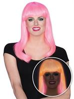 Womens Pink Glow Babe Wig
