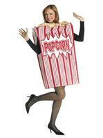 Movie Night Popcorn Box Adult Costume