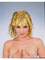 Gold Tinsel Wig