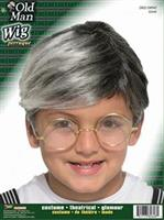 Child Old Man Wig