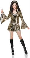 Gold Leopard Disco Diva Costume