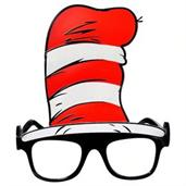 Dr. Seuss The Cat In The Hat Adult Glasses