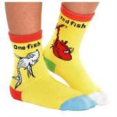 1 Fish 2 Fish Red Fish Blue Fish Crew Socks