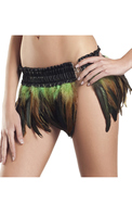 Feather Mini Skirt