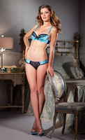 2-Piece Satin shelf bra and lace brief