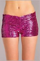 Sequin booty shorts Hot Pink