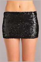 Sequin skirt Black