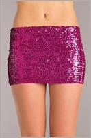 Sequin skirt Hot Pink