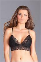 1PC crop top style soft cup bra with lace fabric and lined front cups