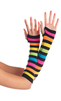 Fingerless Rainbow Gloves