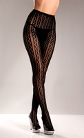 Striped Seamless Lycra Mesh Pantyhose