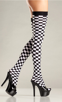 Checkerboard Thigh Highs