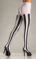 Opaque Vertical Stripe Tights