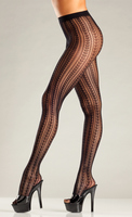 Vertical Stripe Fishnet Pantyhose