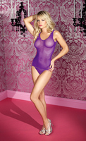 Spandex mini industrial net tank with matching bottom