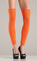 Acrylic thigh high leg warmer, orange