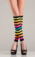 Knee high footless rainbow leggings