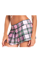 Pleated Plaid School Girl Skirt
