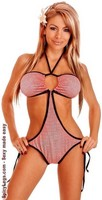 Country Girl Gingham Pucker Back Monokini