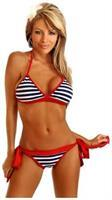 Nautical Pin-Up Pucker Back Bikini
