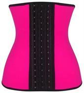 Pink Steel Boned Latex Shaper Waist Training Corset