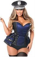 Lavish 5 PC Officer Frisky Corset Costume