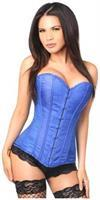 Lavish Royal Blue Brocade Overbust Corset