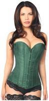 Lavish Dark Green Brocade Corset