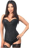 Lavish Black Glitter Side Zipper Corset